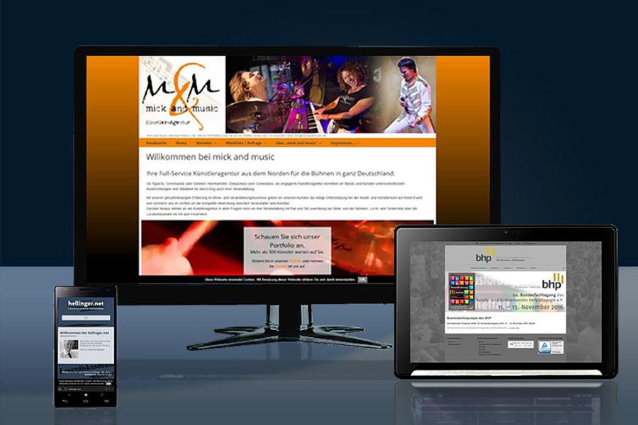 Webseiten (Relaunch und Neugestaltung, CMS-basiert, responsive)